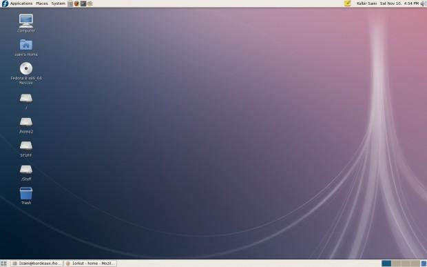 GNOME Fedora 8 Desktop