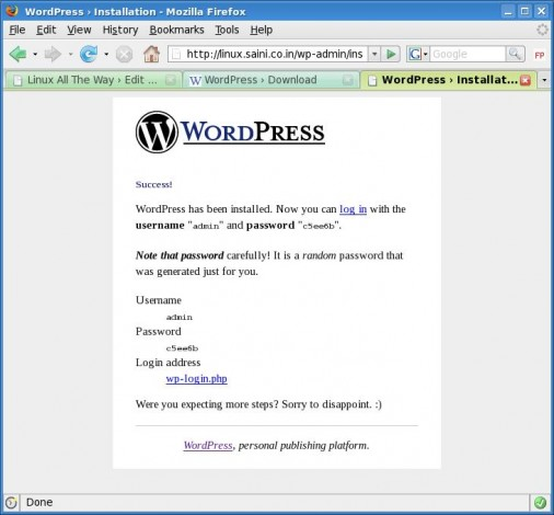 Wordpress Copy Password