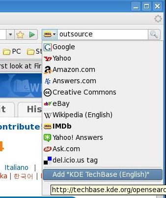 Adding Search Engine in Firefox