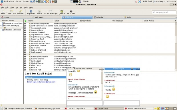 SpiceBird Instant Message using Jabber, GTalk