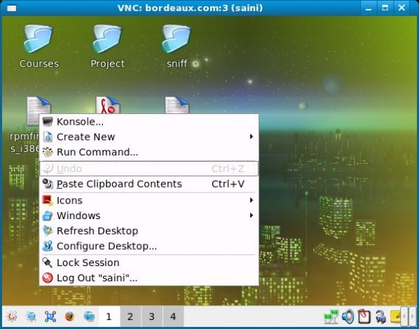 VNC Server VNC Viewer Screenshot KDE