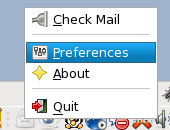GNOME Gmail Notifier Select Prefreneces