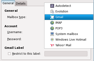 Mail Notification Supported Mailboxes