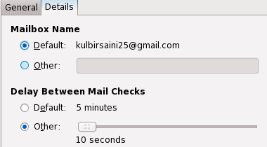 Mail Notification Gmail Account Settings