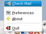 GNOME Gmail Notifier Check New Mails