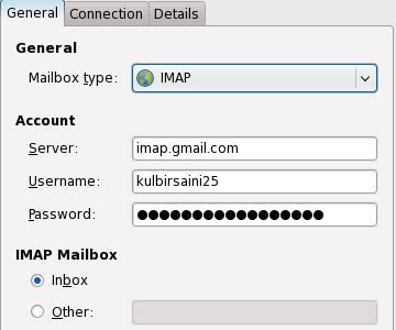 Mail Notification Gmail IMAP Account